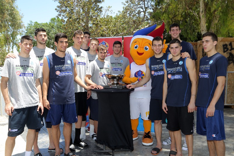 The Greek U19 Men's team ahead of the U19 FIBA World Championship